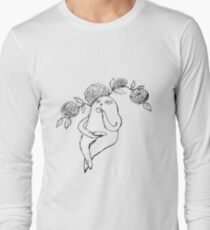 A Sloth's Afternoon Tea Long Sleeve T-Shirt