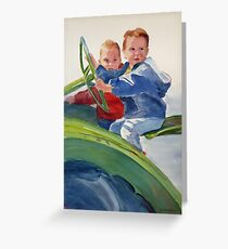 Boys and their Toys Greeting Card