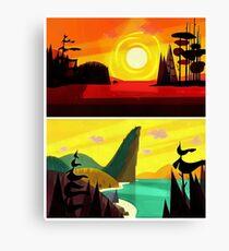 sunrise to sunset Canvas Print