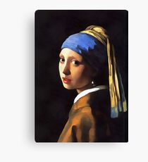Girl with a Pearl Earring After Johannes Vermeer Canvas Print