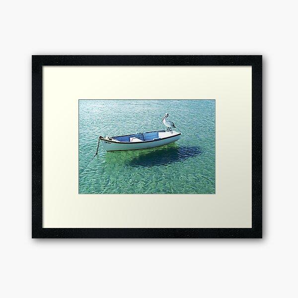 Captain Pelican Framed Art Print
