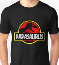 Papasaurus Rex - Funny Dad Gifts - Fathers Day Unisex T-Shirt