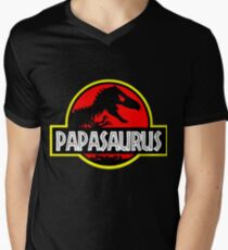 Papasaurus Rex - Funny Dad Gifts - Fathers Day T-Shirt