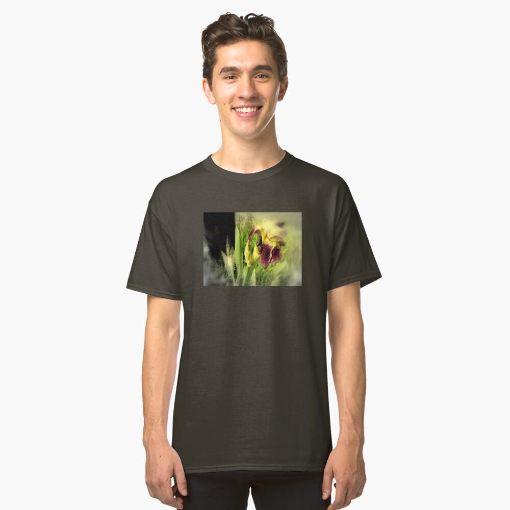Raindrops on Purple Irises #5 Classic T-Shirt