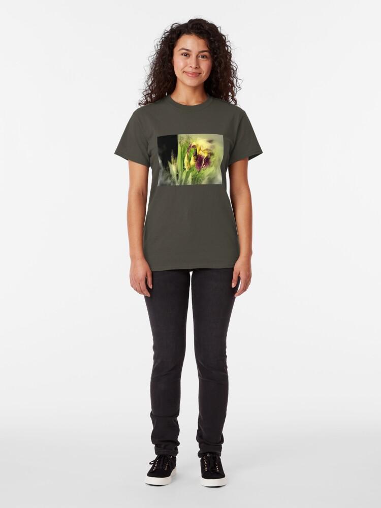 Alternate view of Raindrops on Purple Irises #5 Classic T-Shirt