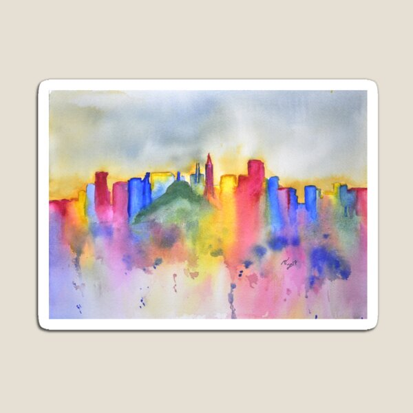 Colourful San Francisco Skyline Magnet