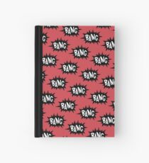 Red Bang Pattern Hardcover Journal