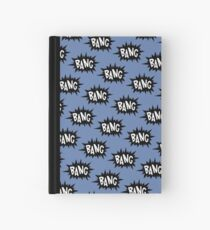 Blue Bang Pattern Hardcover Journal