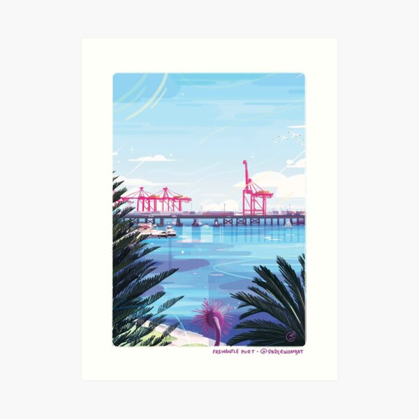 Fremantle Port Art Print