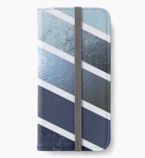 Nordic Blue Chevrons iPhone Flip-Case/Hülle/Skin