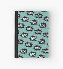 Aqua Bang Pattern Hardcover Journal