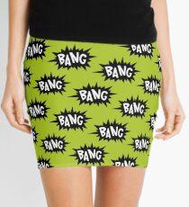 Green Bang Pattern Mini Skirt