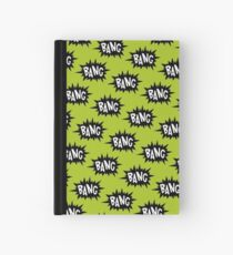 Green Bang Pattern Hardcover Journal