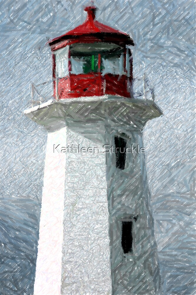 Lighthouse At Peggy's Cove by Kathleen Struckle