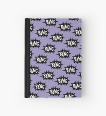 Purple Bang Pattern Hardcover Journal