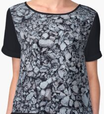 Black coal textured background Women's Chiffon Top