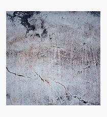 Old concrete wall with cracked texture Photographic Print