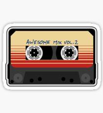 Awesome, Mixtape Vol 2, Cassette, Retro,  Sticker