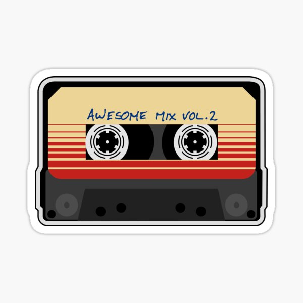 Awesome, Mixtape Vol 2, Cassette, Retro,  Sticker