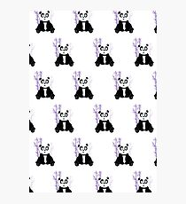 Panda Girl - Purple (Pattern) Photographic Print