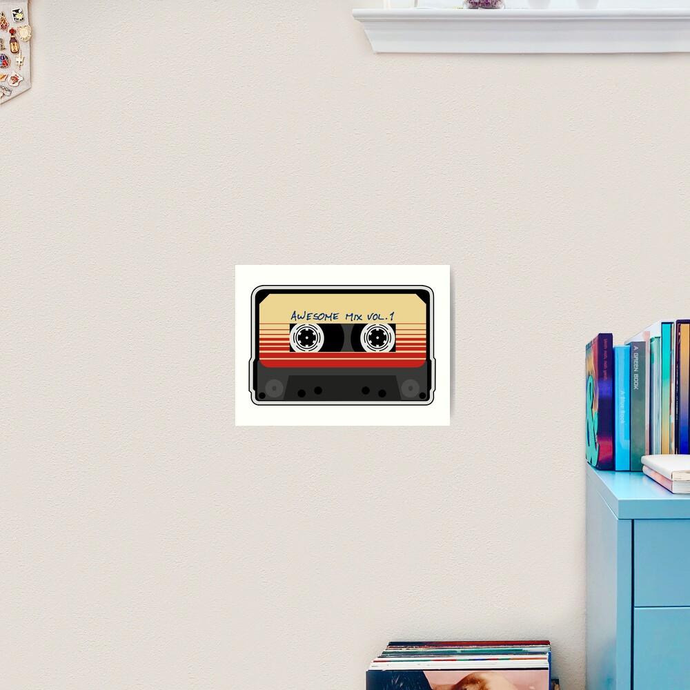 Awesome Mixtape Vol 1, Tape, Music, Retro Art Print