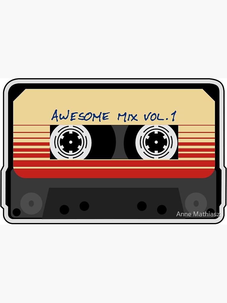 Awesome Mixtape Vol 1, Tape, Music, Retro by boom-art