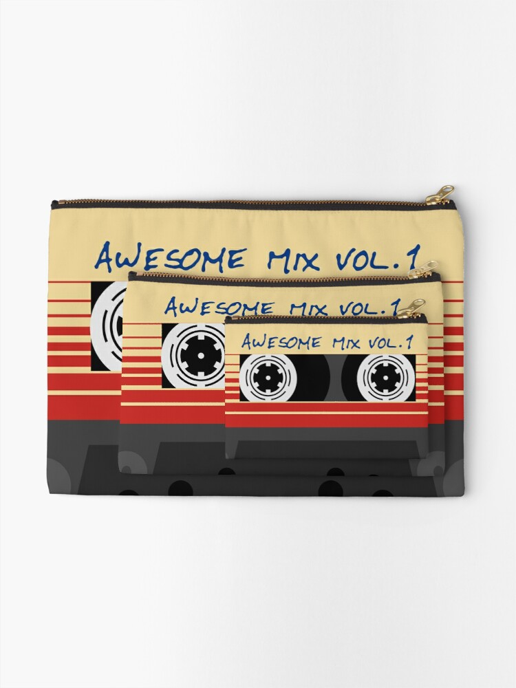 Alternate view of Awesome Mixtape Vol 1, Tape, Music, Retro Zipper Pouch