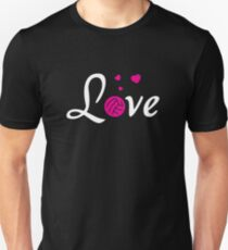 Love Volleyball Sports Women Players Unisex T-Shirt