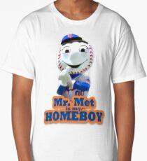 Mr. Met is My Homeboy - Middle Finger Long T-Shirt