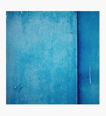 Painted with blue color metal Photographic Print