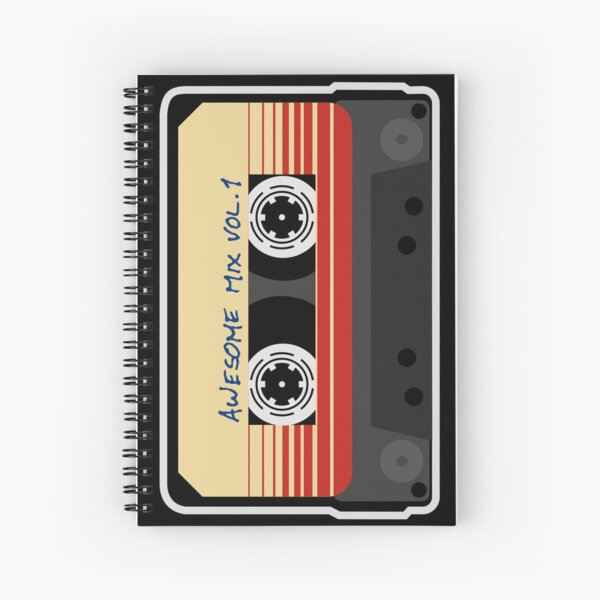Awesome Mixtape Vol 1, Tape, Music, Retro Spiral Notebook