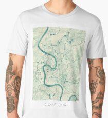 Dusseldorf Map Blue Vintage Men's Premium T-Shirt