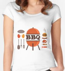 BBQ Grll Lover Design Women's Fitted Scoop T-Shirt