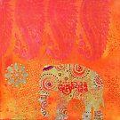 Elephant golden ornament pattern by artsandsoul
