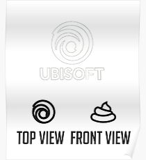 Ubisoft Logo Front View and Top View Poster