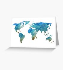 Continents  Greeting Card