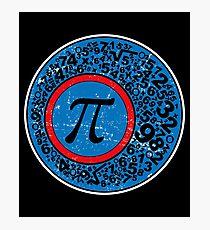 PI Superhero Math Shirt Photographic Print