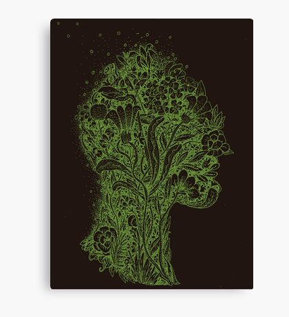 Think Green Profile Canvas Print
