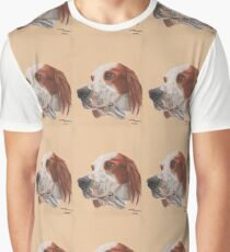 A red and white Irish Setter Graphic T-Shirt