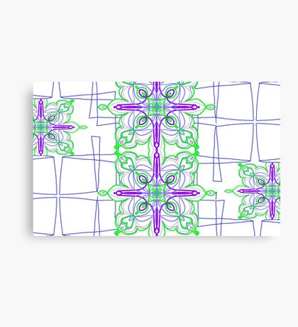 Blooming Squares Canvas Print