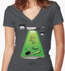 Flying Saucers Women's Fitted V-Neck T-Shirt