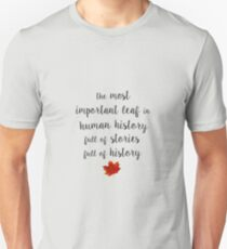 The most important leaf in human history / Clara Oswald T-Shirt