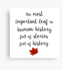 The most important leaf in human history / Clara Oswald Canvas Print