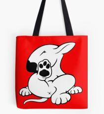 English Bull Terrier Kicking Back  Tote Bag