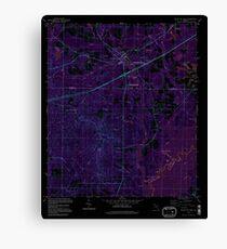 USGS TOPO Map Florida FL Ponce De Leon 348160 1994 24000 Inverted Canvas Print