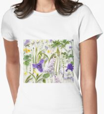 Springtime wildflower blooms Womens Fitted T-Shirt