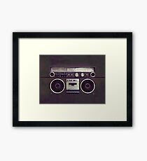 80s Retro Boombox Framed Print