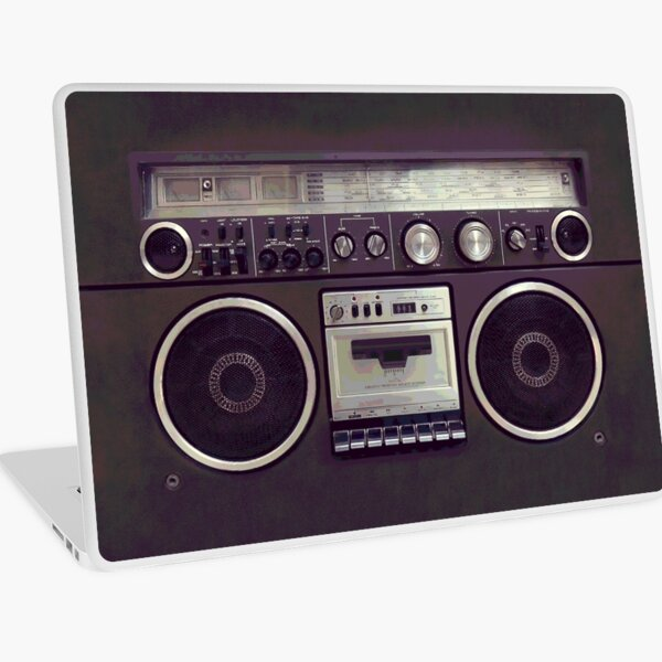 80s Retro Boombox Cassette Player Laptop Skin