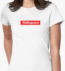 Delinquent - Red Womens Fitted T-Shirt