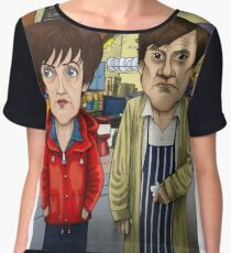 Roy Cropper and Hayley Cropper Coronation Street Women's Chiffon Top